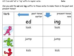 Adding Ed And Ing Suffix To Regular Verbs Flip Chart