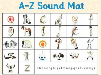 A-Z Sound Mat - RWI Letter Formation Photo Resource