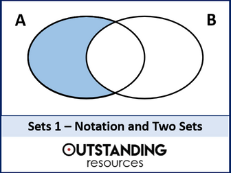 Sets 1 - Two Sets and Set Notation (+ worksheet)