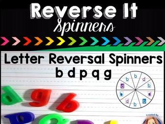 Letter Reversal Spinners for b, d, p, q, g