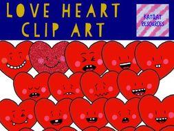 Love Heart Clip Art Valentines Day By Katqatresources Teaching