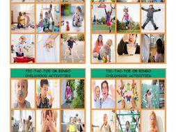 Childhood Activities Tic-Tac-Toe or Bingo