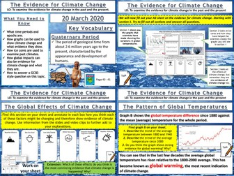 Climate Change: The Evidence for Climate Change