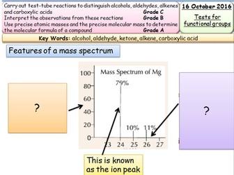New AQA As Chemistry Organics - Analysis