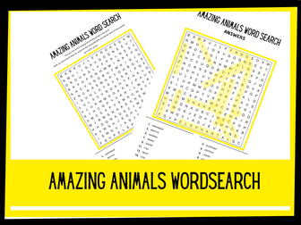 Amazing Animals wordsearch | KS1 KS2