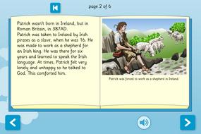 St Patrick Interactive Information Book - Reading Level A - St Patrick's Day KS1