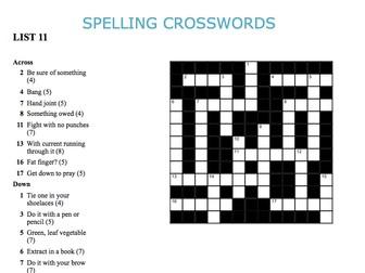 Graded Spelling Crosswords 11-15