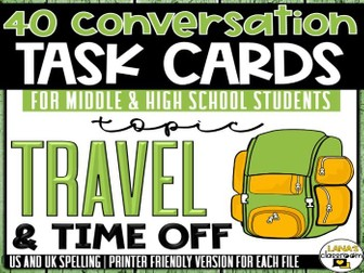 Conversation Starter Cards | Travel | Social Skills for Middle&High