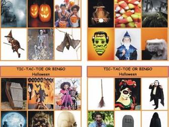 Halloween Tic-Tac-Toe or Bingo Game