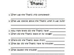 Compare and Contrast: Titanic and Ships