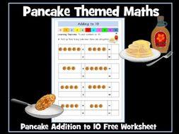 Pancake Day Maths - Addition to 10