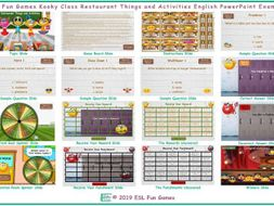 Restaurant Things and Activities Kooky Class English PowerPoint Game