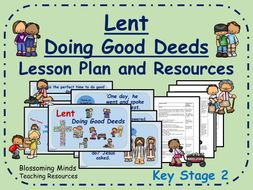 Lent Lesson Plan - Doing Good Deeds - KS2