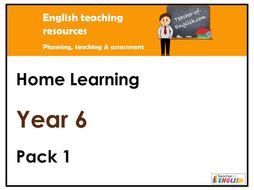 Year 6 English - Home Learning Pack