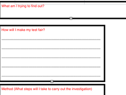 ks2 science experiment template by seamail teaching resources tes