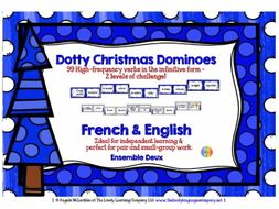FRENCH VERBS CHRISTMAS DOMINOES 2 GAMES & CHALLENGES (2)