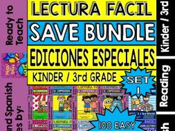 Easy Reading For Reading Comprehension in Spanish - Bundle - Set 1 +250 pag.