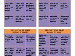 Wish and Modal Verbs of Regret Tic-Tac-Toe or Bingo