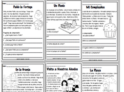 SPANISH - Reading Comprehension Short Stories - Comprensión de ...