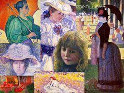 Pointillism Painting ~ Art History ~ from Seurat Forward ~ 180 Slides ~ Pointill