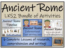 LKS2 Ancient Rome - Display, Research, Reading Comprehension & Writing Bundle