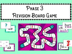 Phonics Phase 3 Revision Board Game