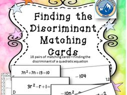 Finding the Discriminant Matching Card Set