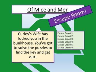 Of Mice and Men - Escape Room