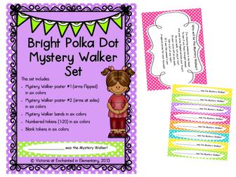 Bright Polka Dot Mystery Walker Set