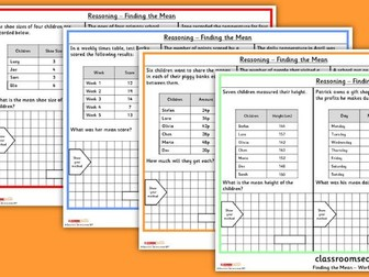 KS2 Finding the Mean Reasoning SATs Questions