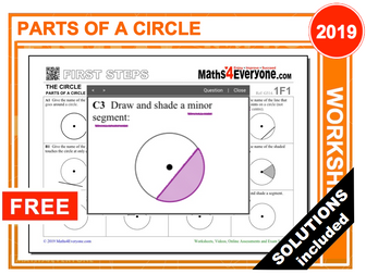 Parts of a Circle (Worksheets with Solutions)