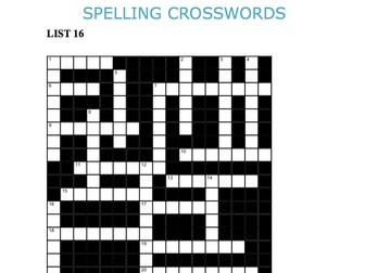 Graded Spelling and Vocabulary Crosswords 16-20