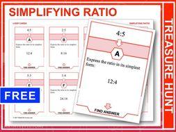 Simplifying Ratios (Treasure Hunt)