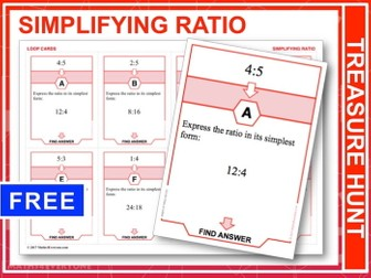 Simplifying Ratios (Treasure Hunt)