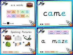 a-e (split digraph) Phonics PowerPoint