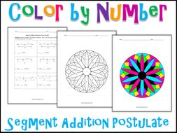 segment addition postulate color by number - Segment Addition Postulate Worksheet
