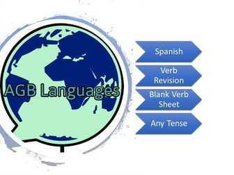 Spanish Blank Verb Sheet (Extended)