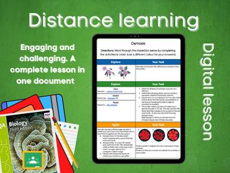 SB1.7 Osmosis Distance learning (AQA GCSE Bio)