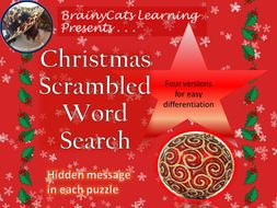Christmas Word Scramble Word Search