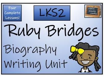LKS2 History - Ruby Bridges Biography Writing Activity