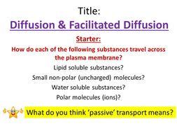 Diffusion & Facilitated Diffusion - OCR AS/A Level Biology
