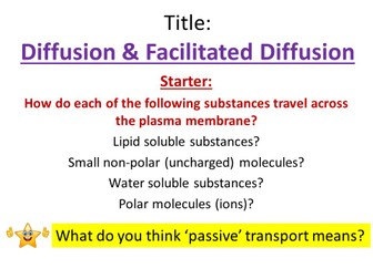 Diffusion & Facilitated Diffusion - OCR AS/A Level Biology