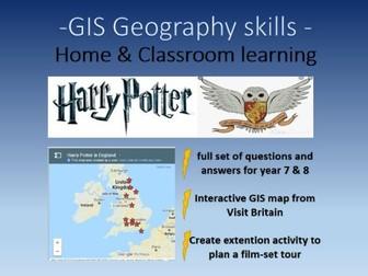 Harry Potter GIS Geography skills