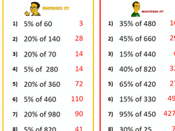GCSE Maths/Functional Skills- Differentiated Percentage of Amounts ...
