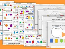 Year 1 Sort 3D Shapes Autumn Block 3 Step 2 Maths Lesson Pack