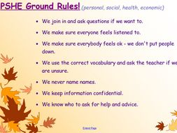 Year 3 PSHE Ground Rules