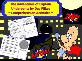 The Adventures of Captain Underpants: Comprehension Activities
