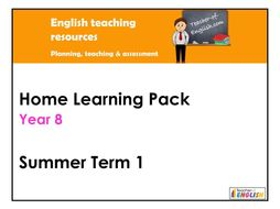 Year 8 English Home Learning Pack - Summer Term