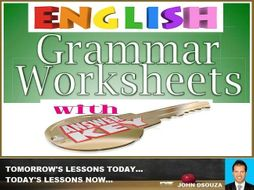 ENGLISH GRAMMAR: WORKSHEETS WITH ANSWERS - BUNDLE