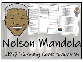 LKS2 History - Nelson Mandela Reading Comprehension Activity